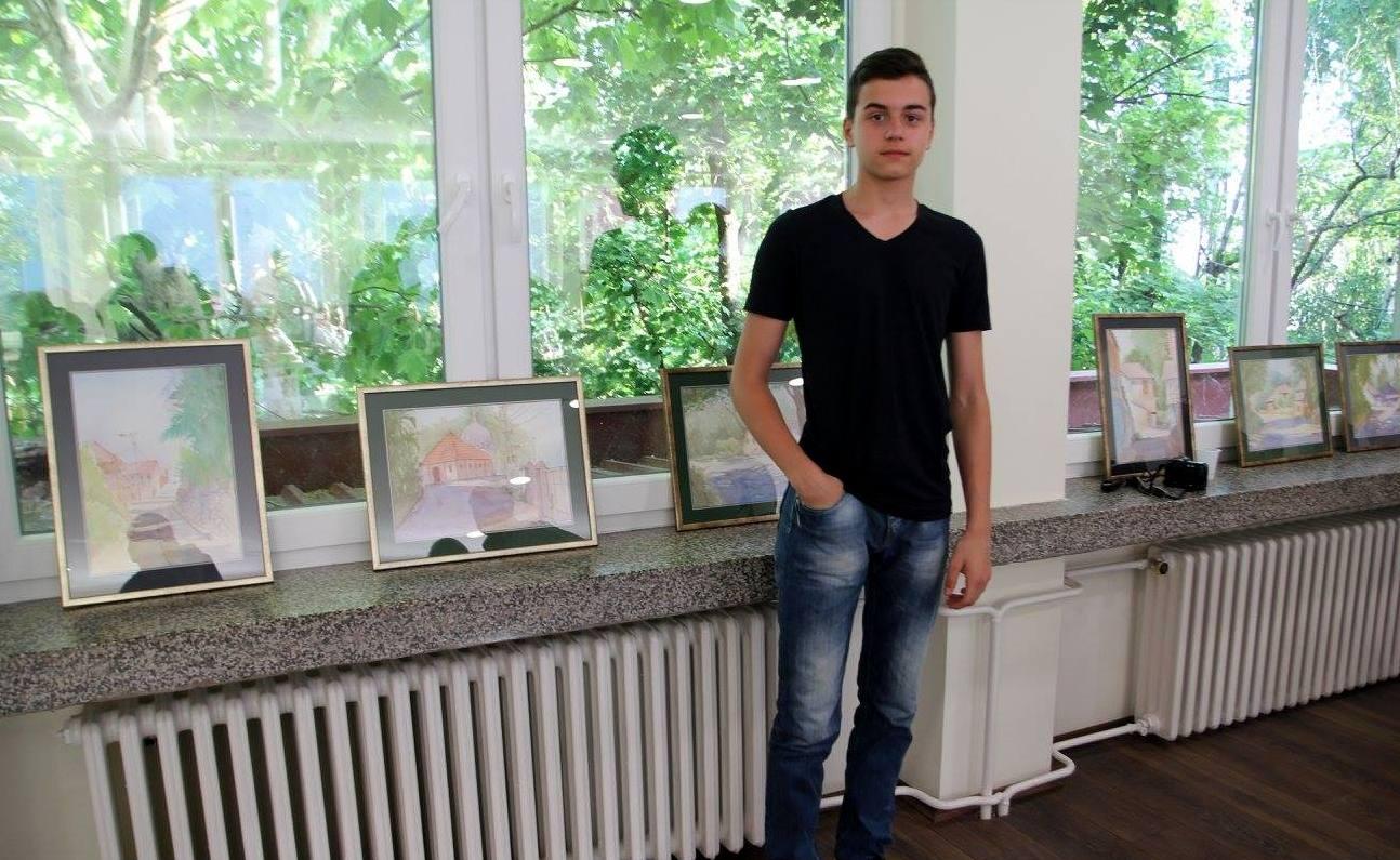 Minja Novaković - Mladi talentovani slikar iz Banatskog Karađorđeva