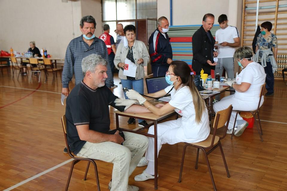 Akcija dobrovoljnog davalaštva krvi u Česteregu, Međi i Žitištu