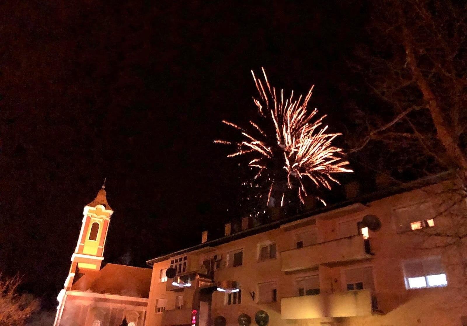ŽITIŠTE - Moleban za početak Pravoslavne Nove godine uz vatromet