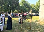 Osvećenje zvona crkve Svetog proroka Ilije u Česteregu