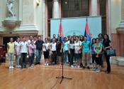 NAJUSPEŠNIJI UČENICI POSETILI NARODNU SKUPŠTINU REPUBLIKE SRBIJE